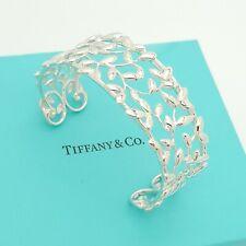 Tiffany & Co. Sterling Silver Paloma Picasso Olive Leaf 6.75' Bracelet Pouch Box