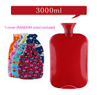 3 Liter/3000mL Large PVC Rubber HOT WATER Bag Warm/Heat / Cold Therapy + Cover