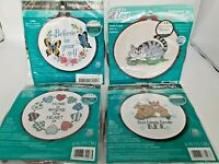Dimensions Learn a Craft Needlepoint Stamped Cross Stitch Crewel Lot 4 New