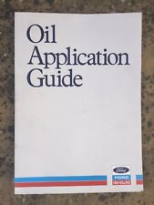 FORD NEW HOLLAND OIL APPLICATION GUIDE TRACTOR MANUAL BROCHURE FARM WORKSHOP,