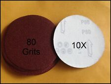 "10pcs x80 Grits 5"" SANDING DISC with VELCRO"