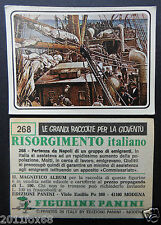 figurines cromos picture cards figurine risorgimento italiano 268 panini 1975 dc