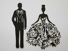 Lady in Lacy Dress and Man Paper Die Cuts x 3 Sets Scrapbooking Embellishment