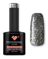 YBJ-012 VB™ Line Hot Platinum Grey Black Glitter UV/LED soak off gel nail polish