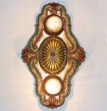 141b Vintage 10's 20s arT Nouveau Ceiling Light Fixture Polychrome sconce ?