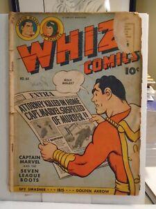 WHIZ COMICS #64 (1945) Captain Marvel, Spy Smasher, Golden Arrow, Fawcett