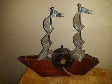 Vintage United Nautical Ship Wheel Sailing Sail Clock Model 403/2