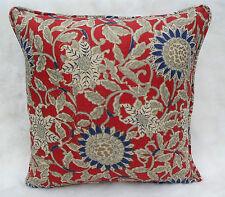 Ralph Lauren Fabric Cushion Cover  'Cote d'Azur Floral' Poppy  La Plague Riviera
