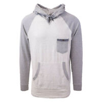 Rip Curl Men's Striped Light Grey Oatmeal L/S Pullover Hoodie