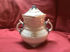 Antique Large Sugar Bowl Sampson Bridgwood & Son Anchor China White Wedding Ring