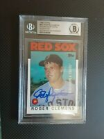 ROGER CLEMENS 1986 Topps Beckett BAS Signed Autographed Red Sox Yankees PSA JSA