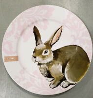 NEW (4) CIROA EASTER BUNNY DINNER PLATES Spring Home Dining Decor