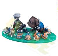 9pcs/set Naruto Hatake Kakashi Eight Ren Dogs PVC Figure Model New