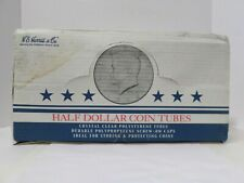 Box 100 H.E. Harris Coin Tubes 94 are 1/2 Dollars and 6 are Quarters Screw Tops