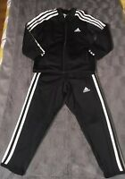 Adidas Boys Black And White Climalite Tracksuit Age 3-4 Excellent Condition