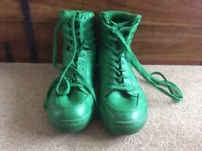 Green lace up boots SHOELAB UK size 10