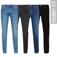 EX M&S Mens Skinny Leg Jeans Stretch Denim Pants Trousers All Waist Leg Sizes