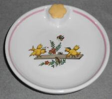 Vintage CERAMIC BABY DISH Baby Chicks on See Saw MADE IN FRANCE