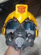 "Transformers ""Bumblebee"" Helmet Yellow Costume Mask Voice/Talking Hasbro 2008"