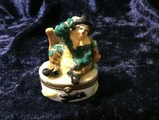 Wizard Of Oz Scarecrow Hinged Porcelain Trinket Box Midwest of Cannon Falls