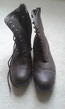 MENS NEW LOOK BROWN BOOTS SIZE 10