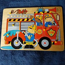 Mothercare Fire Engine Wooden Jigsaw Puzzle for children