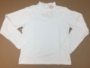 Harley-Davidson Women's White W/ Orange B&S Mock Turtleneck shirt  Medium