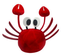Red Crab Seafood Novelty Lobster Hat Costume Adult Child Cap With Claws Crawfish