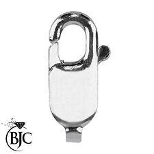9 Ct Or Blanc Lobster Claw 13 Mm Ovale Fermoir Closer Fermoir Collier Bracelet