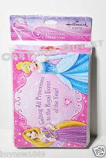 PRINCESS INVITATIONS 8 PC BIRTHDAY SUPPLY 8 THANK YOU CARDS DISNEY CINDERELLA