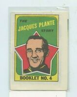 1971-72 Topps/OPC Booklet #4 Jacques Plante  Story