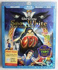 Like New Disney Snow White and Seven Dwarfs 1937 Blu-Ray DVD 3 Discs Diamond Ed