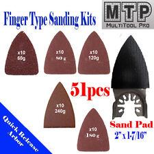 51 Sanding Paper Set Oscillating MultiTool Fein Dewalt Porter Cable Rockwell pad