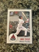 2011 Arkansas Travelers (misspelled)  Mike Trout Pre-Rookie Card