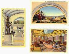 Ut - Salt Lake City - 3 Vintage Views of Utah State Capitol
