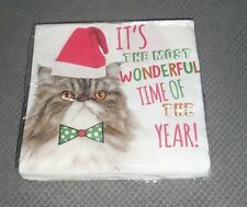 Pack of 20 Grumpy Cat Christmas Paper Napkins - New and Sealed