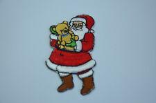 Père Noël 8cm brodé cousue à repasser Vêtement patch badge applique