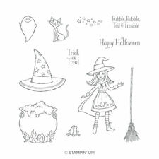 Stampin Up Sizzix Cauldron Bubble Clear Stamps & Framelits Dies NEW Halloween