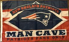 New England Patriots Man Cave Flag 3x5 Fans Only Banner Football