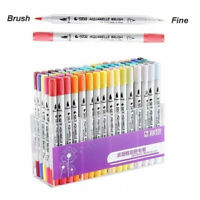 80 Colors Dual Tip Brush Pens with Fine liners Colouring Art Markers Drawing Pen