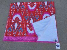 "John Robshaw Ikat Beach Towel Vaya Bright Pondicherry Pink Red 40"" X 70"" NWT"