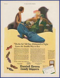 Vintage 1925 DANIEL GREEN Comfy Slippers Women's Shoes C. F. Neagle Art Print Ad