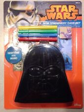 NEW Star Wars DARTH VADER Stationary Case Set Stickers Memo Pad Markers Gift