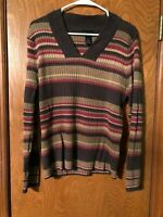 Lane Bryant Long Sleeve Pullover Sweater 18/20 Women's Plus Size  Brown/Red