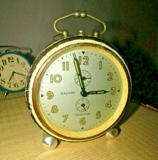 "Vintage ""Bayard Stentor"" Alarm Clock Made In France Has Repetition off-white"