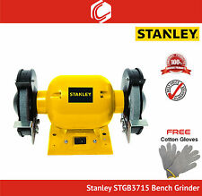 "Stanley STGB3715 Professional Double-wheeled Bench Grinder–Wheel Dia 6"" (152mm)"