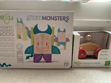 """Tegu Sticky Monsters """"Pip"""" New In Box Magnetic Wooden Blocks kids toys & car"""