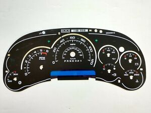 Custom Cadillac Escalade Platinum GM Speedo Cluster Gauge Face Inlay 2006 2007
