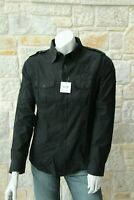 Moschino Authentic Men's 100% Cotton Black Shirt Size L Free Shipping New w Tags