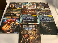 Lot of 10 Brady Games Strategy Guides Iron Man GTA Seals Conan Pirates King Kong
